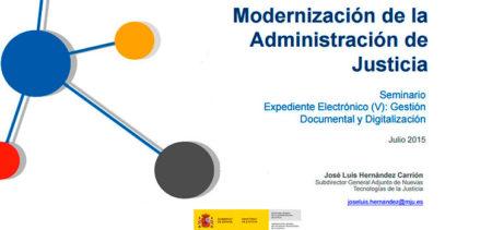 Modernización de la Administración de Justicia