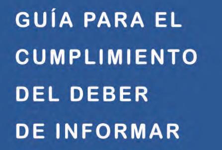Guía para el cumplimiento del deber de informar