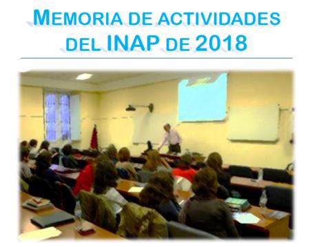 Memoria de actividades del INAP