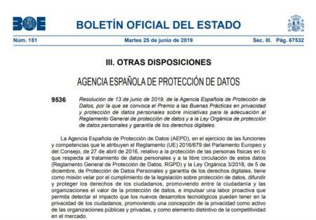 Premio a las Buenas Prácticas en privacidad y protección de datos personales