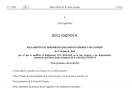 Disposiciones para hacer frente al impacto de la crisis de la COVID-19