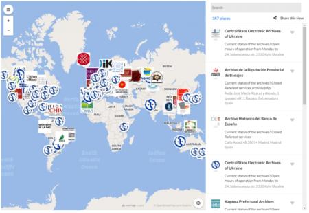 El mapa digital que demuestra que se puede acceder a los Archivos aun estando cerrados
