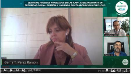Revive la mesa redonda en el Open Expo Virtual Experience sobre las NNTT en las #AAPP con Andrés Pastor y Gema T. Pérez Ramón